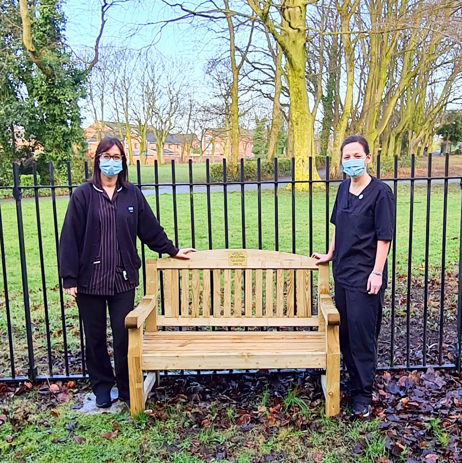 Captain Sir Tom bench installed for staff at Litherland Town Hall Health Centre