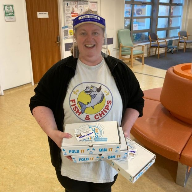 Local Chip shop donates lunches to the team at Fareham Community Hospital