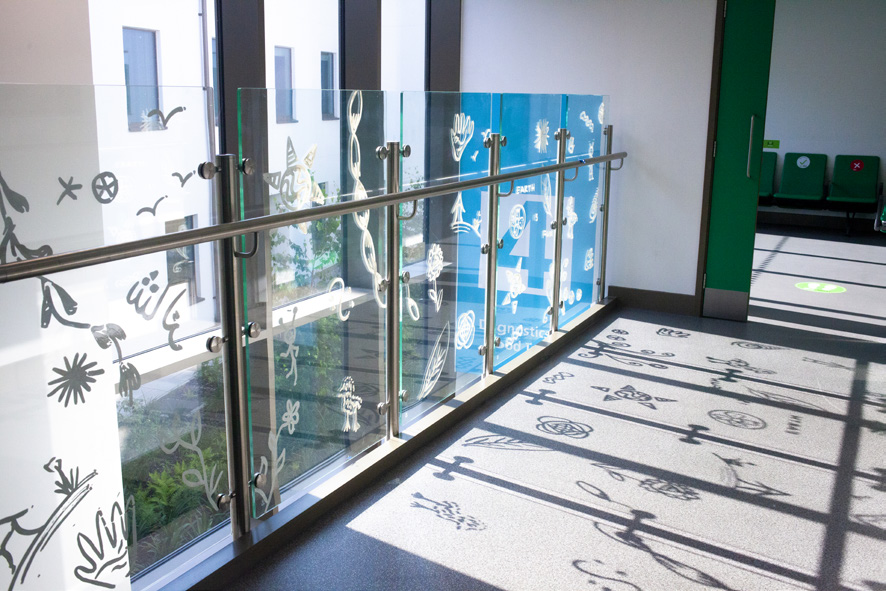 Health led artwork unveiled at the Tessa Jowell Health Centre