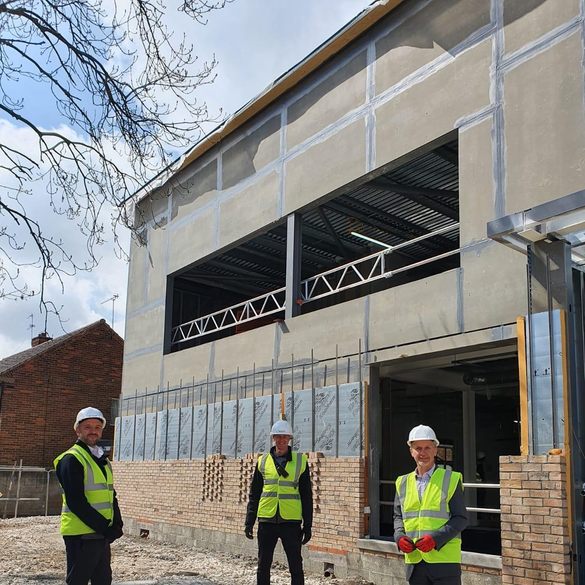 A milestone in the construction of the state of the art West Hull Health Hub