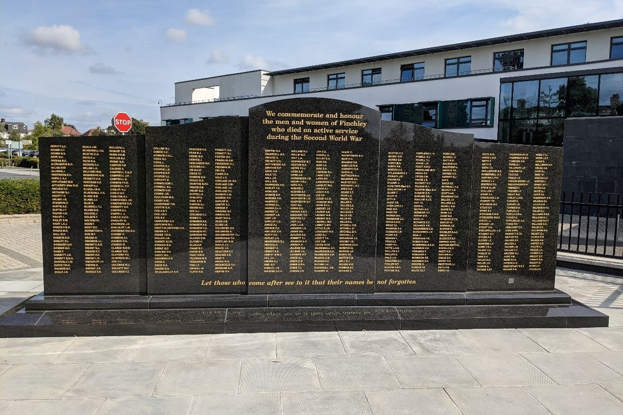 War Memorial at Finchley Memorial Hospital unveiled